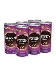 Nescafe Mocha Milk Coffee, 6 Cans x 240ml