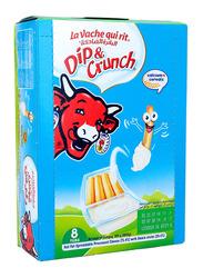 La Vache Quirit Dip & Crunch Spreadable Cheese, 8 x 35g