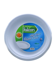 Falcon 10-inch 25-Pieces Foam Plain Round Plate, White