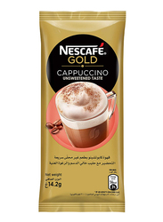 Nescafe Gold Cappuccino Unsweetened Instant Coffee, 14.2g