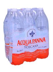 Acqua Panna Natural Mineral Water, 6 Bottles x 1.5 Liter