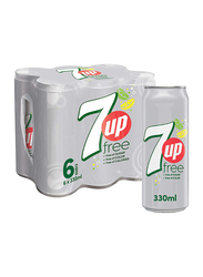 7Up Free Soft Drink, 6 Cans x 330ml