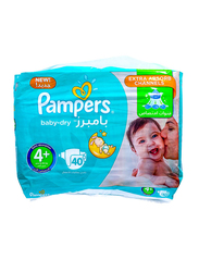 Pampers Baby Dry Diapers, Size 4 Plus, 9-16 kg, Value Pack, 40 Count