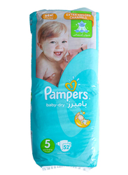 Pampers Baby Dry Diapers, Size 5, Junior, 11-18 kg, Jumbo Pack, 52 Count