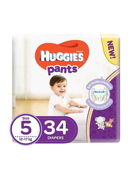 Huggies Pants Diapers, Size 5, 12-17 Kg, 34 Count