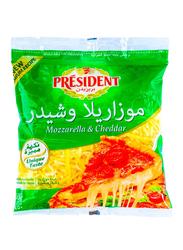 President Mozzarella & Cheddar Shredded Cheese, 450g