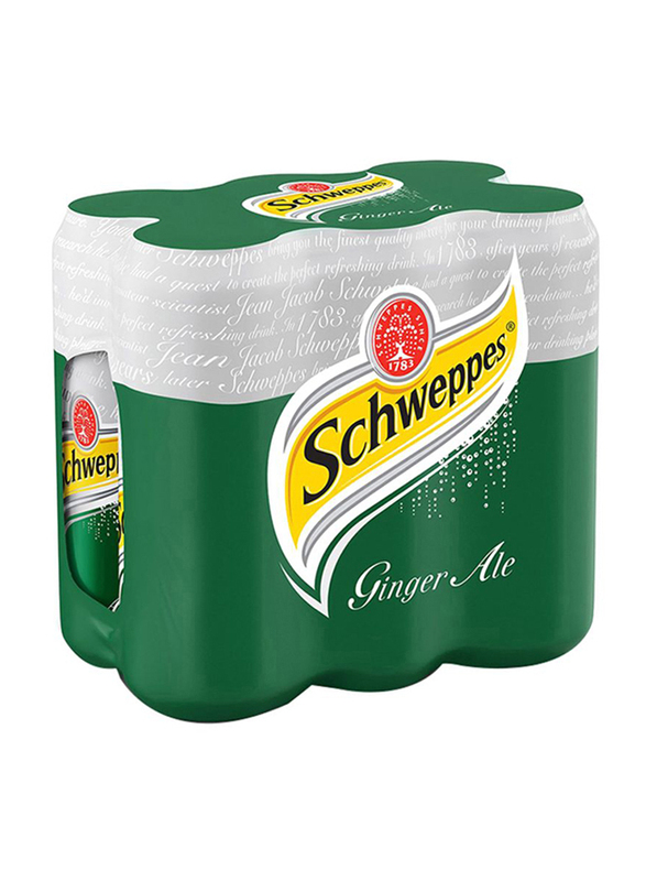 Schweppes Ginger Ale Soft Drink, 6 Cans x 250ml