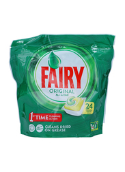 Fairy Tablets For Dishwasher Cleaner, 24 Pieces