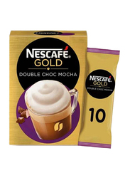 Nescafe Gold Double Chocolate Mocha Coffee, 10 Sachets x 23g