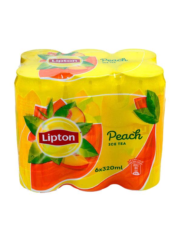 Lipton Peach Ice Tea, 6 Cans x 320ml