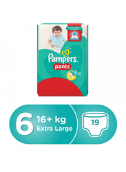 Pampers Pants Diapers, Size 6, Extra Large, 16+ Kg, Carry Pack, 19 Count