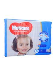 Huggies Ultra Comfort Superflex Diapers, Size 4 Plus, 10-16 kg, Jumbo Pack, 68 Count