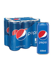 Pepsi Carbonated Soft Drink, 6 Cans x 330ml