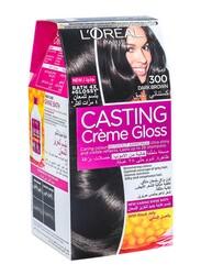 L'Oreal Paris Casting Creme Gloss, 300 Dark Brown, 100gm