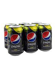 Pepsi Black Lime Soft Drink, 6 Cans x 355ml