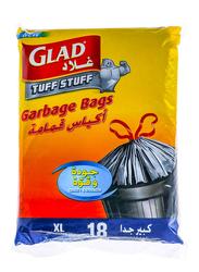Glad Tuff Stuff Garbage Bag, XL, 18 Bags x 170 Liter