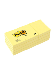 Post-it Sticky Notes, 1.5 x 2 inches, 12 x 100 Sheets, Yellow