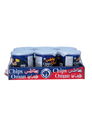 Oman Chips Potato Chilli Flavor Chips, 6 x 37g