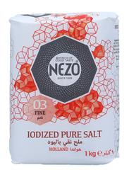 Nezo Iodized Pure Salt Packet, 1 Kg