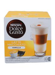 Nescafe Dolce Gusto Latte Macchiato Vanilla Coffee, 16 Capsules, 188.4g