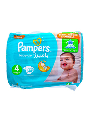 Pampers Baby Dry Diapers, Size 4, 8-14 kg, Value Pack, 44 Count