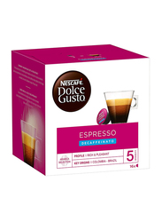 Nescafe Dolce Gusto Espresso Decaffeinated Instant Coffee, 16 Capsules x 96g