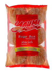 Yaumi Premium Quality Seeded Burger Bun Sliced, 6 Pieces, 360g