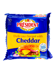 President Burger Cheddar Cheese Slices, 200g