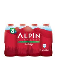 Alpin Alkaline Mineral Water, 12 Bottles x 330ml