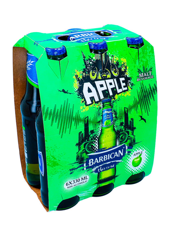 Barbican Apple Non Alcoholic Malt Drink, 6 Bottles x 330ml
