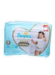 Pampers Premium Care Pants, Size 5, Junior, 12-18 kg, Jumbo Pack, 40 Count