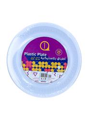 Aswaaq 26cm 25-Pieces M7 Plastic Round Plate, White
