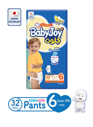 Baby Joy Culottes Jumbo Diapers, Size 6, Junior XXL, 16+ Kg, 32 count