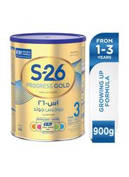 Wyeth S-26 Progress Gold Stage 3 Premium Milk Powder Can, 900gm