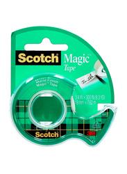 3M Scotch Magic Tape with Dispenser, Clear/Green