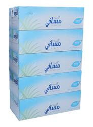 Masafi White Facial Tissues, 5 Boxes x 150 Sheets x 2Ply