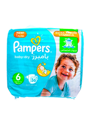Pampers Baby Dry Diapers, Size 6, 15+ kg, Jumbo Pack, 36 Count