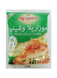 President Mozzarella & Cheddar Shredded Cheese, 200g