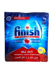 Finish All in 1 Lemon Dishwasher Detergent Tablets, 14 Tablets, 248g