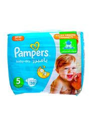 Pampers Baby Dry Diapers, Size 5, 11-18 kg, Value Pack, 38 Count