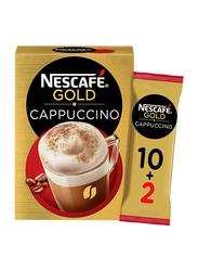 Nescafe Gold Sweetened Cappuccino, 12 Sachet x 17gm