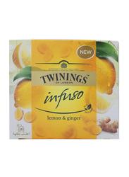 Twinings Infuso Lemon & Ginger Herbal Tea, 50 Tea Bags x 3.2g