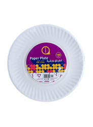 Aswaaq 9-inch 100-Pieces Paper Round Plate, White