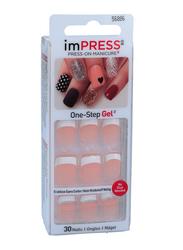 Broadway ImPress Rock It False Nails, 30 Nails, Beige/White