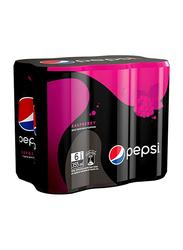 Pepsi Black Raspberry Soft Drink, 6 Cans x 355ml