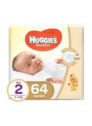 Huggies Jumbo Diapers, Size 2, Newborn, 4-6 Kg, 64 Count