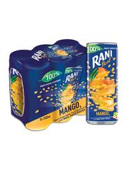 Rani Float Mango No Added Sugar Fruit Drink, 6 Cans x 240ml