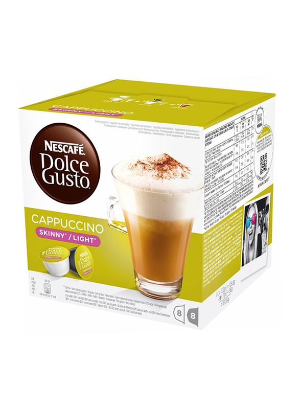 Nescafe Dolce Gusto Cappucino Light Instant Coffee, 16 Capsules, 161.6g