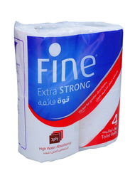 Fine Extra Strong Toilet Rolls, 4 Rolls x 150 Sheets x 2Ply