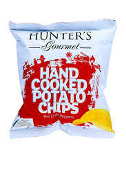 Hunter's Gourmet Hot Chilli Peppers Hand Cooked Potato Chips, 40g